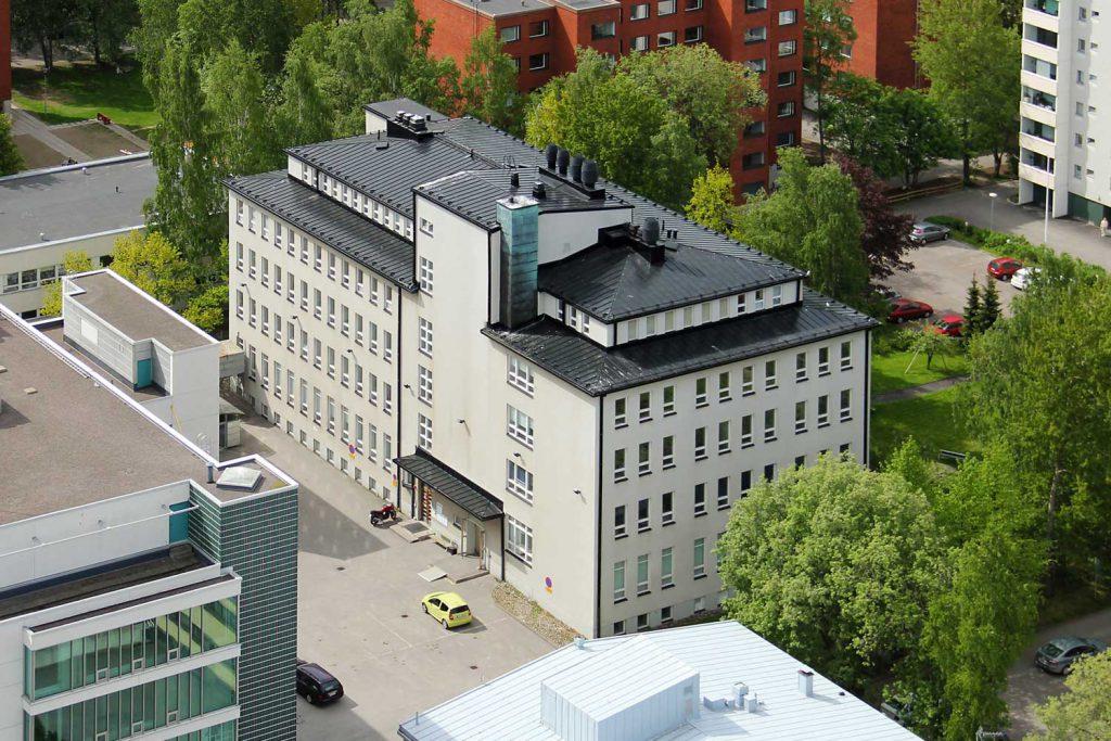 Itälahdenkatu 18 C ilmakuva, vuokrattavat toimitilat Helsinki JMB Kiinteistöt