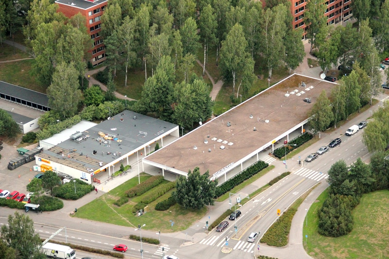 Pohjantorin liikekeskus ilmakuva JMB Kiinteistöt