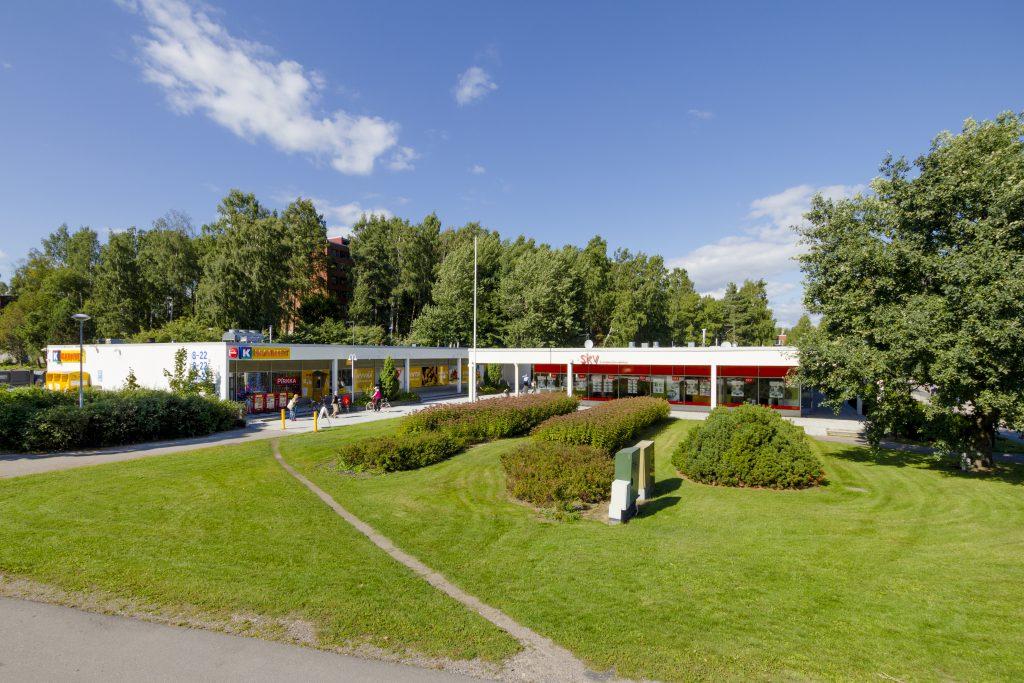Pohjantorin liikekeskus julkisivukuvaa JMB Kiinteistöt